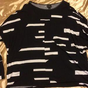 A black and white Worthington shirt